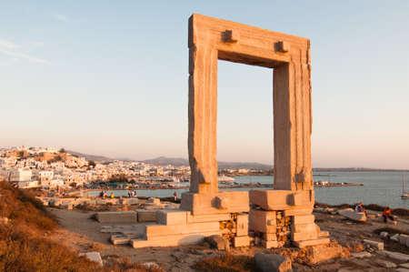 naxos: Apollo temple gate in Naxos