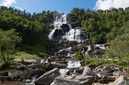 waterpolo: Watefall in Voss, Norway Stock Photo