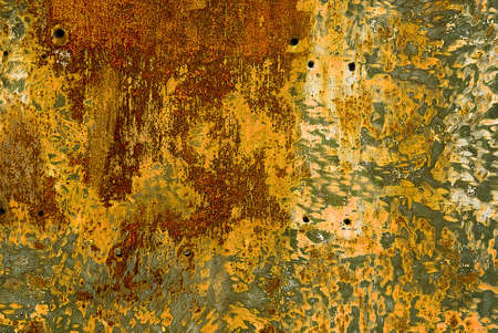 urban decline: colorful rust structures on an steam engine Stock Photo