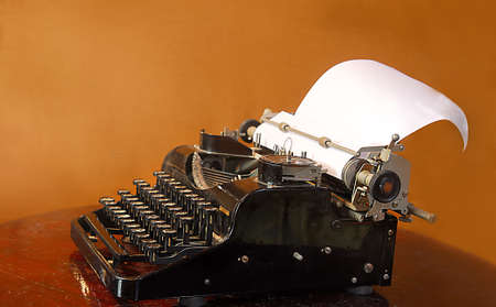 nostalgy: close-up of an old typewriter Stock Photo