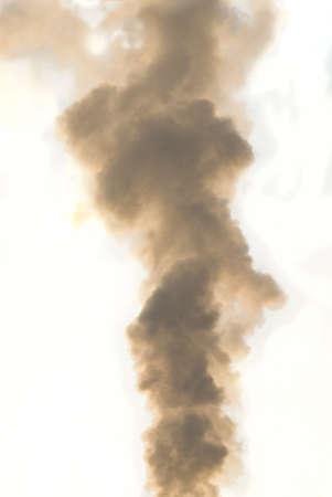 smolder: column of smoke, cut out Stock Photo