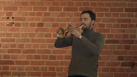 Musician playing the trumpet