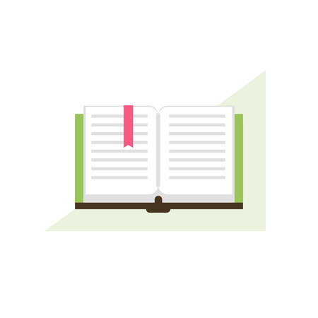 polyglot: Opened book. Library concept. Reading icon. Vector illustration flat design