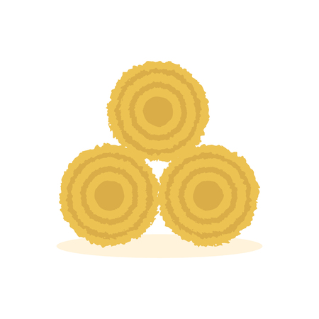 Dried Haystack Icon Illustration
