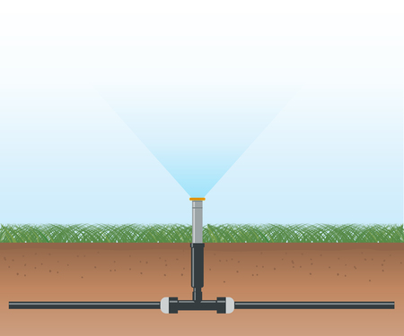 Automatic Water Irrigation System Illustration