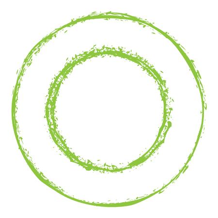 Green Circles Grunge Frame