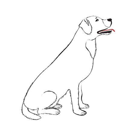 Black Line Dog