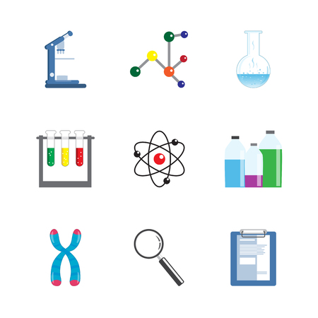telomere: Laboratory Science Equipment  Icon Set