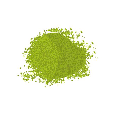 Top view pile of  matcha green powder.