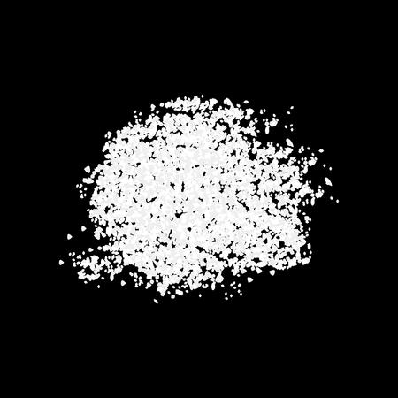 White Powder Salt or Sugar Ple