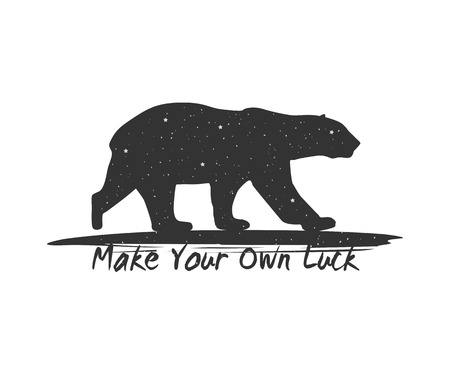Make Your Own Luck. Typography Poster with Inspirational Quote Vettoriali