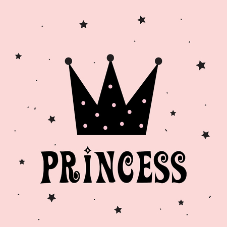 Little Princess with Crown Slogan