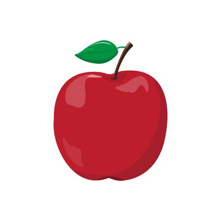 Icona rossa della mela Archivio Fotografico - 98216407