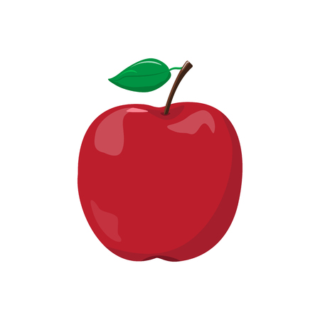 Red Apple Icon Illustration