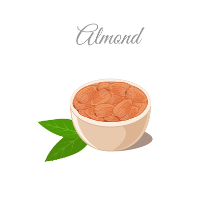 Almond Nuts in Bowl