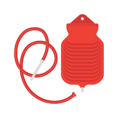 Water bottle enema bag illustration. Illustration