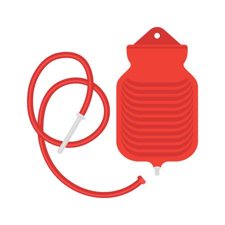 Water bottle enema bag illustration. Ilustração
