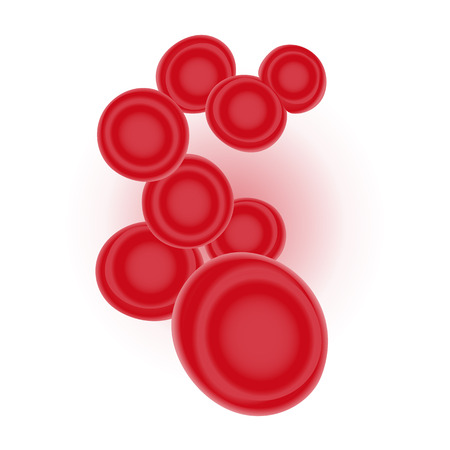 Red Blood Cells isolated on background. Vector illustration Imagens