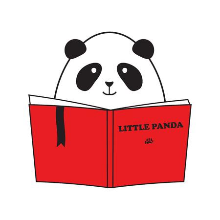 Cute Little Panda Reading Book