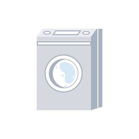 Modern Washing Machine Isolated