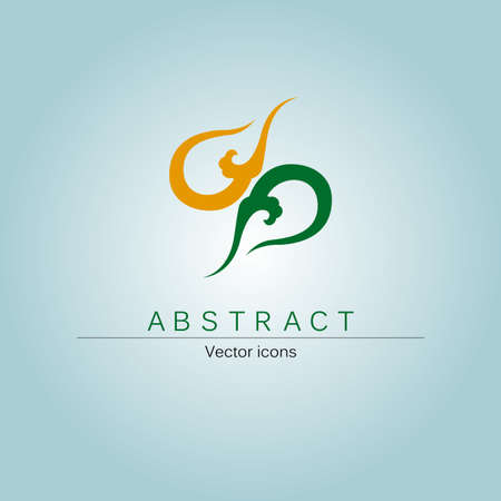 Abstract logo design, Chinese cloud combination of elements, into a rotational symmetry.