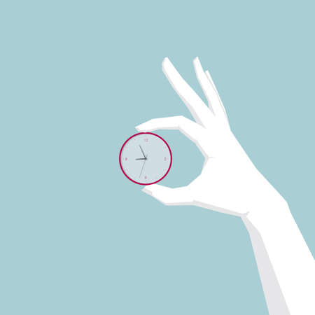 Hand holding the clock,Lifted in mid-air. Banco de Imagens - 99516129