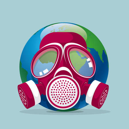 Environmental pollution design, protect the earth. Illustration
