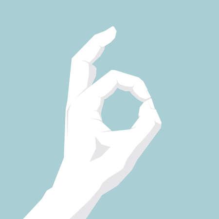 Vector drawn gesture symbol,ok gesture design Illustration