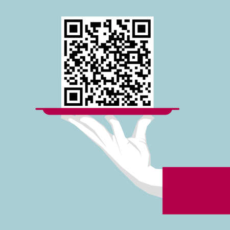 Hand lifting tray, QR Code in the tray.