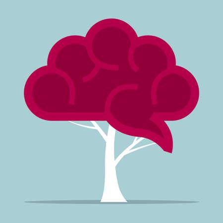 Surrealist concept design, brain at the tree end. Illustration