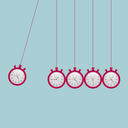 Newtons cradle, pendulum Illustration