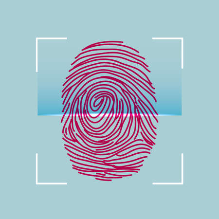 Biometric technology, scanning human fingerprints.