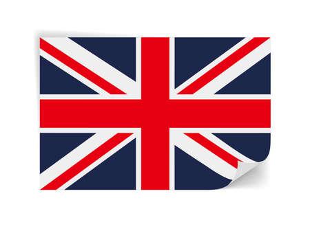 Flag of United Kingdom,on the white background