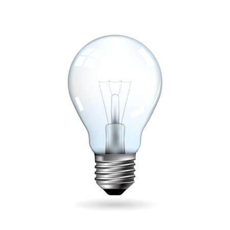 drawn light bulb Иллюстрация