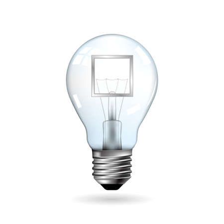 drawn light bulb Ilustrace