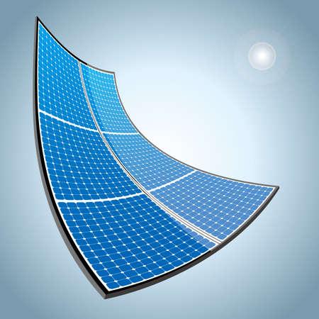 New energy concept design.drawn solar panels.