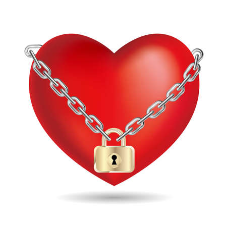 Lock the heart symbol.Isolated on white background. Stock fotó - 101674424