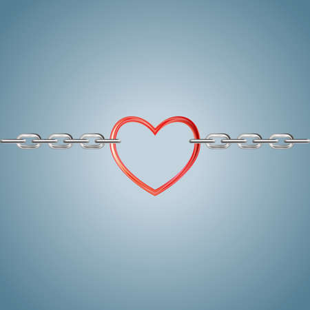Lock the heart symbol.Isolated on gray background. Stock fotó - 101674428