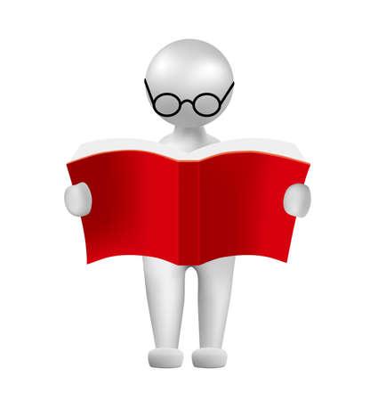 人のシンボル、手持ちの心臓本の読書、画像は、グリッドグラデーションを使用しています。