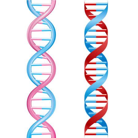 Medical concept design, DNA Strand, isolated on white background. Çizim