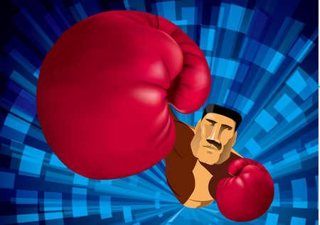 drawn boxer, extreme sports concept design.