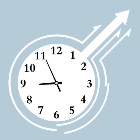 Vector drawn digital clock, time is approaching nine oclock. Иллюстрация