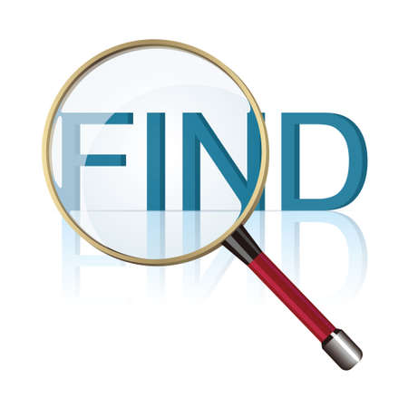The letter design of the find. Isolated on white background.  イラスト・ベクター素材