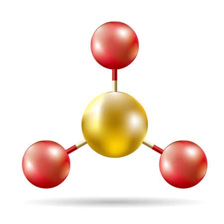 Structure moléculaire dessinée par vecteur. Isolé sur fond blanc.