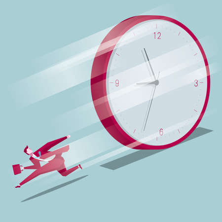 A businessman racing against time Illustration