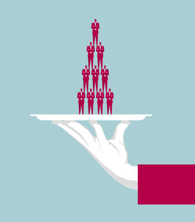 Business workforce with teamwork concept 向量圖像