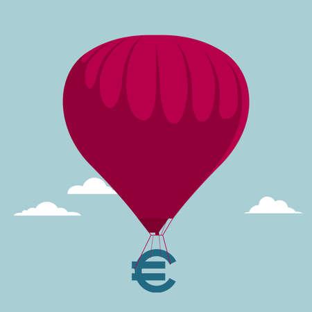 Air transport wealth. Isolated on blue background. Ilustração