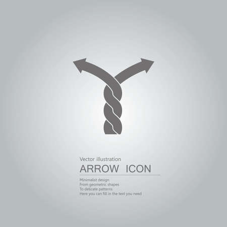Vector drawn arrow symbol. The background is a gray gradient.