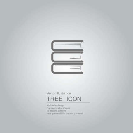 Vector drawn books. The background is a gray gradient.