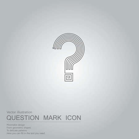 Vector drawn question mark icon. The background is a gray gradient.